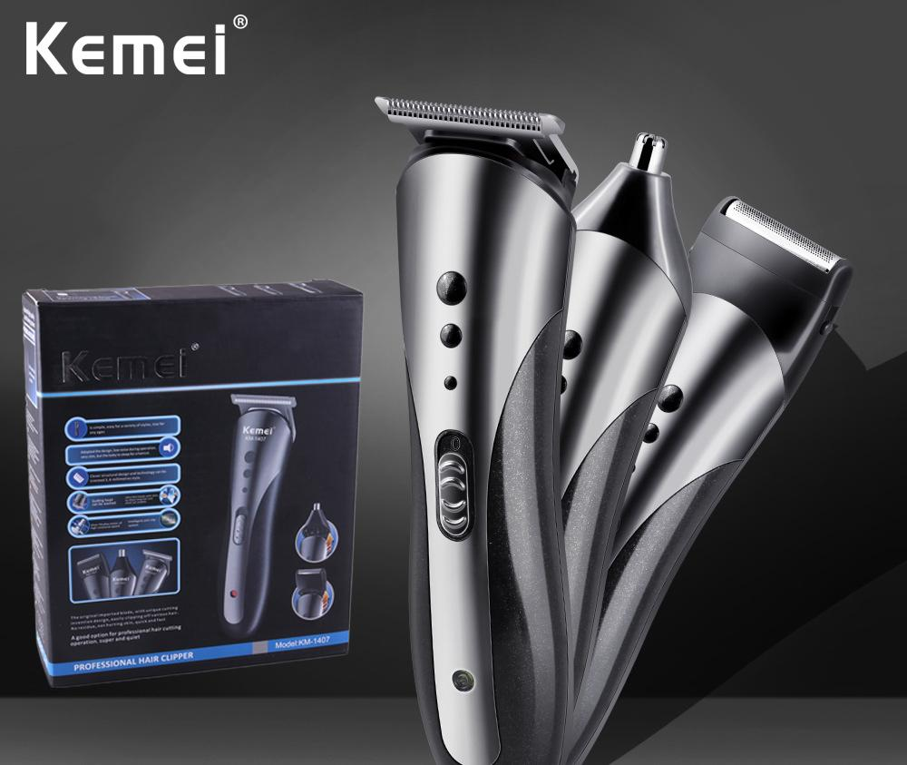 Mens Electric Hair Clipper Nose Trimmer Beard Shaver Grooming Kit Cordless Razor