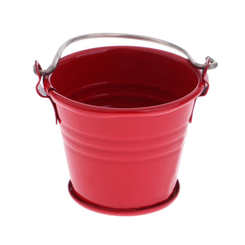 New 1/12 Dollhouse Miniature Kitchen Garden Water Bucket Pail Furnitures
