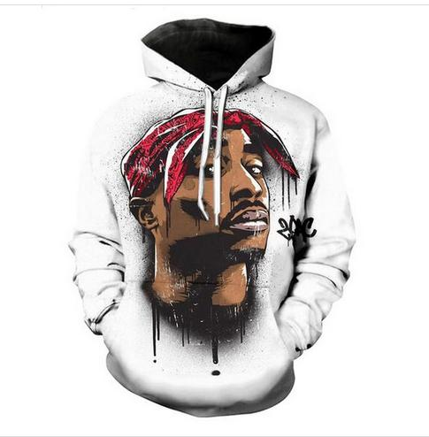 Out Fashion Streetwear 3D HD Stampa Casual 2pac Tupac Felpe Felpe Uomo Donna con cappuccio Giacca Cappotto LMS06