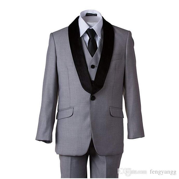 الصبي بدلة رسمية شال التلبيب 5 قطع (سترة + بنطلون + سترة + قميص + ربطة الانحناءة) الاطفال حفلة موسيقية البدلات الرسمية السترة الدائري الصبي دعوى ل حفل زفاف مخصص