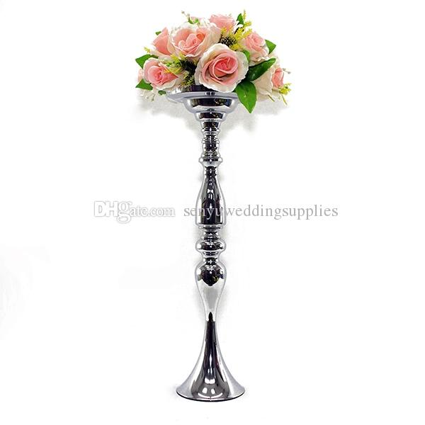 Hot Sale Event Candle Stand Matel Candle Holders Silver church decor vases senyu0294
