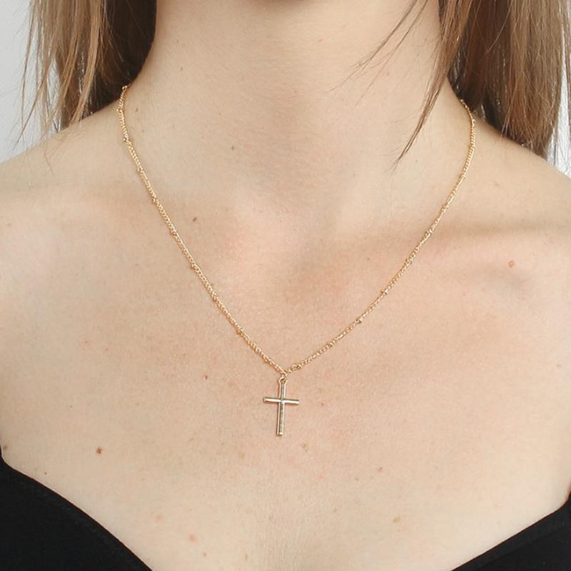 20pcs European and American fashion alloy cross Jesus pendant necklace Religious Jewelry men and women couple jewelry T-75