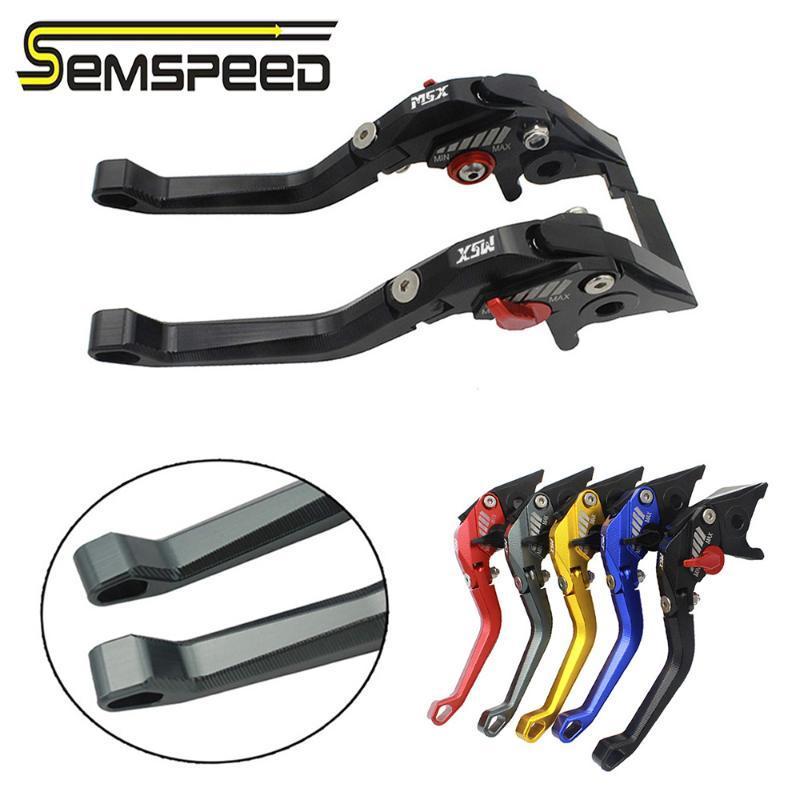 2014-2019 SEMSPEED главного гром логотип мотоцикл регулируемый 3D ромб складной тормозные рычаги сцепления для MSX125 для MSX 125 Гром 2020