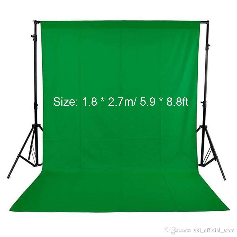 Photographie fond de studio écran non-tissé Tissu Toile de fond 1.8X2.7M / 5.9X8.8ft Noir / Blanc / Vert pour le studio photo d'éclairage