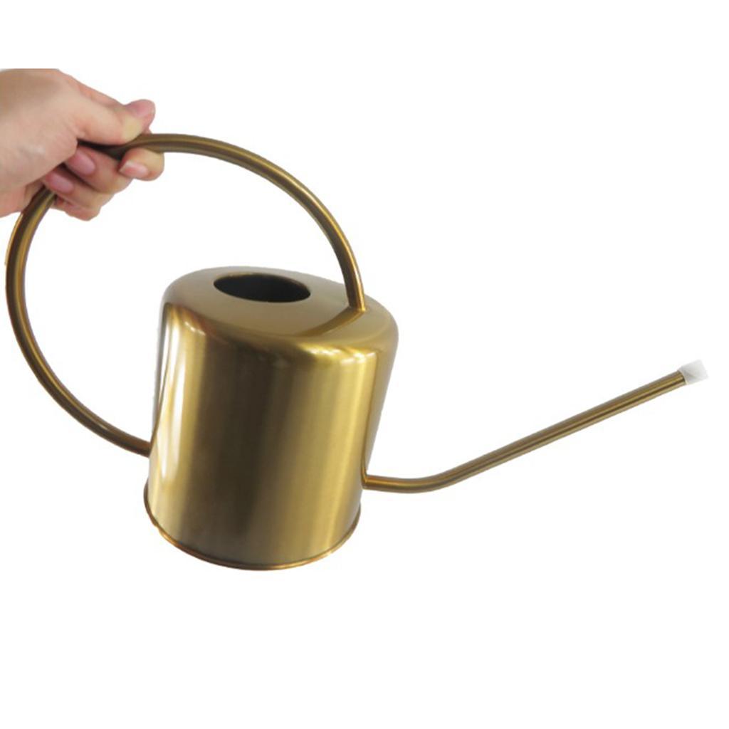 Vintage Brass Metall langer Auslauf Kleine Gießkanne Zimmerpflanzen - 1500 ml / 51 Unzen