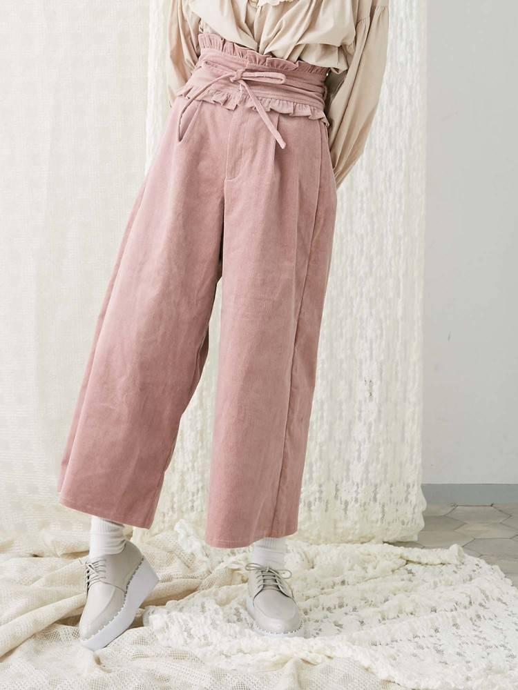 إلى gladself أنثى مصمم الأزياء السراويل عارضة عالية الخصر kawaii كودري موري فتاة خمر واسعة الساق السراويل الكاحل للنساء