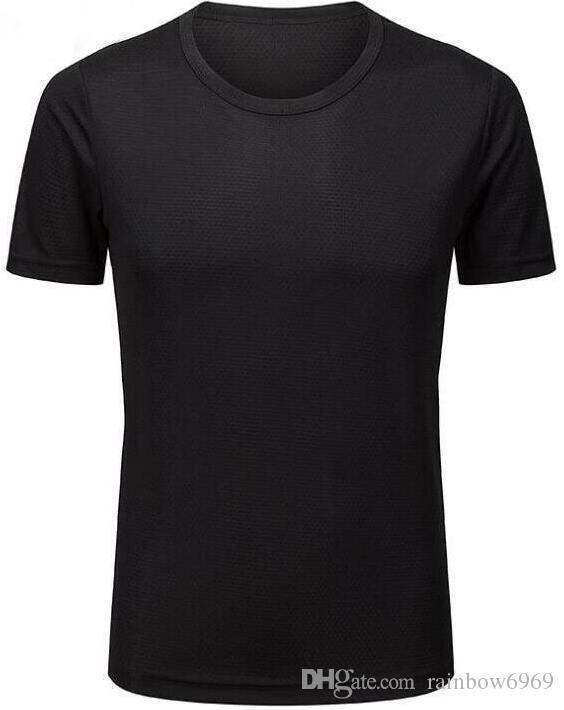 2019 мужских облегающий фитнес-бело-серая одежда работает с короткими рукавами спортивных стрейч быстросохнущими одеждами футболку