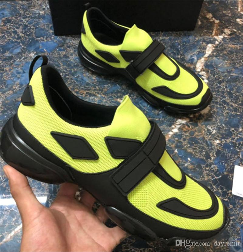 جديد فاخر الأزياء الساخن بيع Cloudbust أحذية عارضة 18SS حذاء مصمم أحذية رجالية عادية النساء جلد طبيعي أزياء لصق أحذية N2