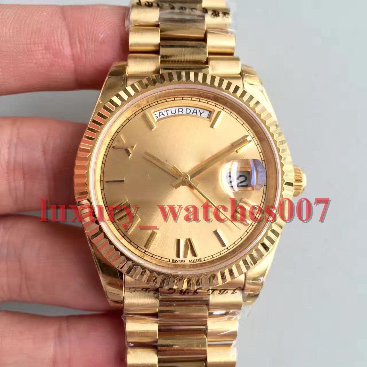 2019 핫 남자 럭셔리 시계 새로운 18K 골드 40MM 228238 기계식 사파이어 시계 고품질 자동 무브먼트 스테인레스 스틸 손목 시계