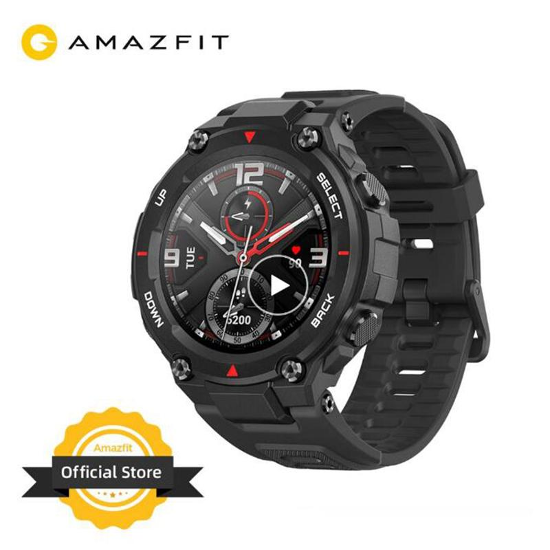 Youpin CES Amazfit T-rex Smartwatch Control Music 5ATM Smart Watch GPS/GLONASS 20 Days Battery Life MIL-STD T-rex Smartwatch for Android