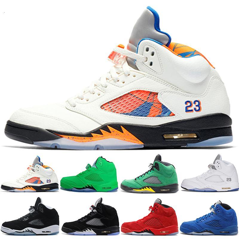 Fresh Prince 5 alas 5s hombres negros zapatos de baloncesto PARIS Laney oreo plata OG uva blanca atasco del espacio de deportes para hombre zapatillas de deporte 41-47