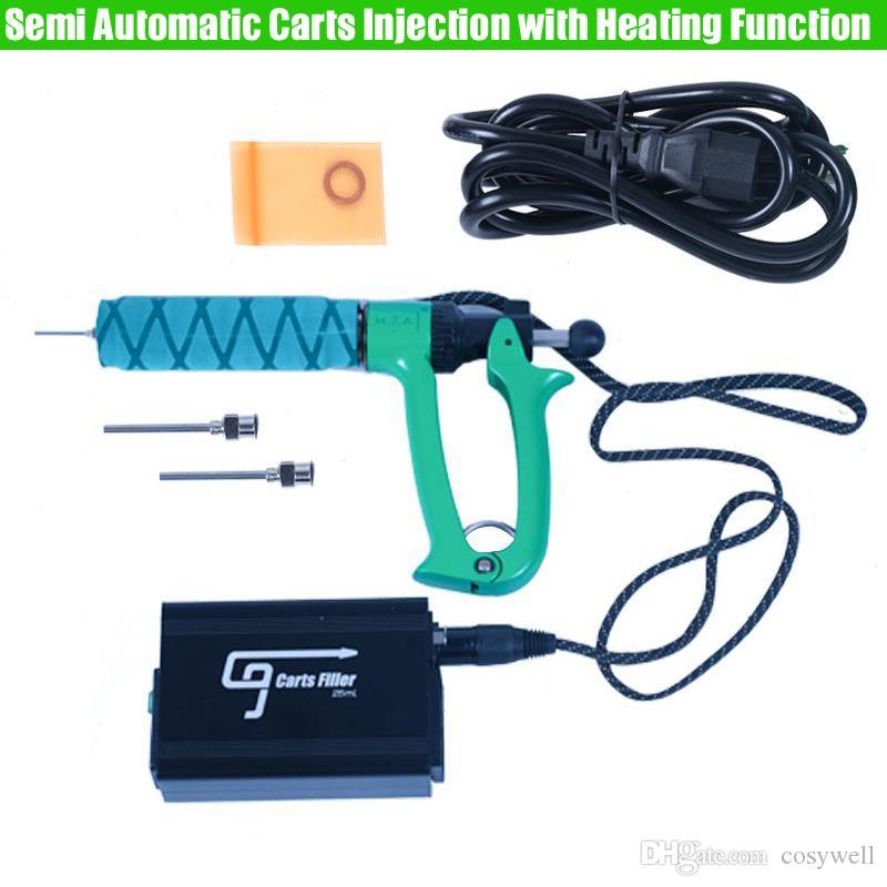 Original GREENLIGHTVAPES G9 semi máquina de inyección automática de carros con la función de calefacción del arma de llenado de cartuchos de aceite espeso Vape 0,5 ml de 1 ml
