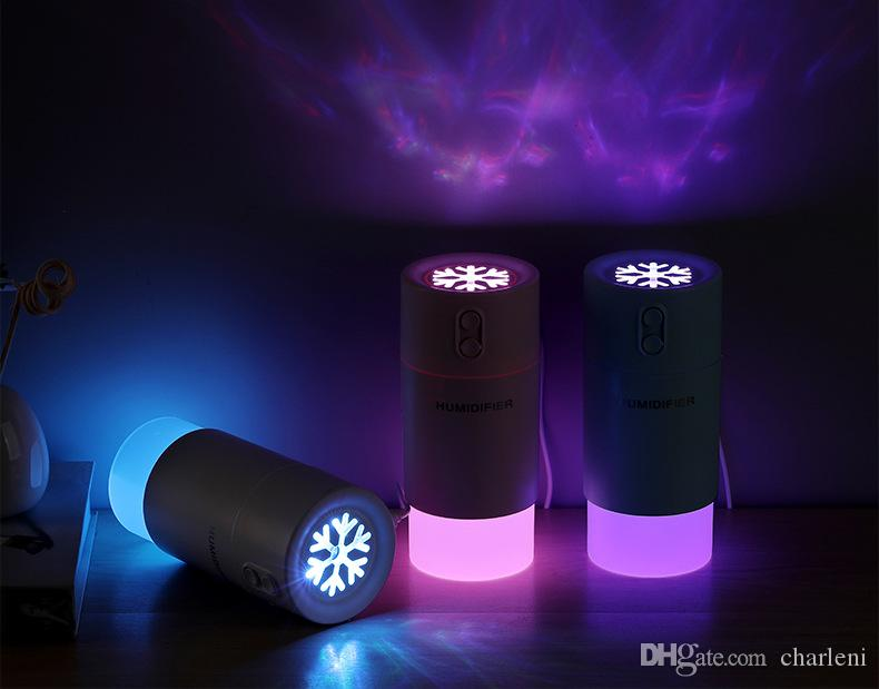Snow Flower Humidifier USB Mini Multifunction Machine Night Light With Mini Fan Micron Spray Protable For Officers