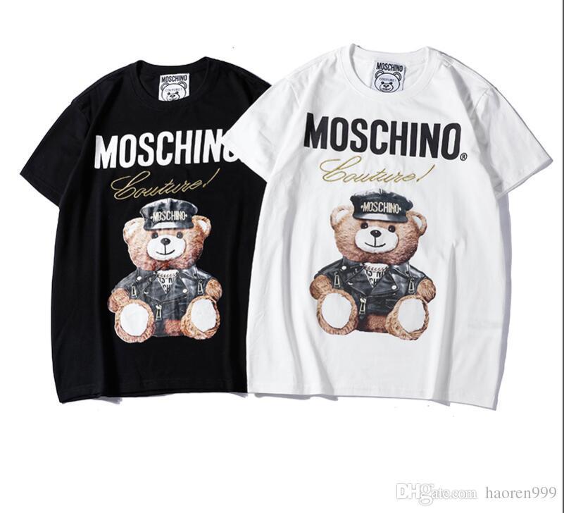 Европа италия 2018 амур винтаж размер глаз 25 футболка качаться медведь печать мода скейтборд мужчины женщины свободного покроя хлопок майка дизайнер