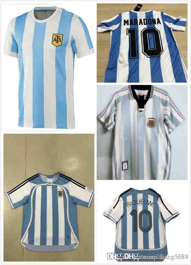 VINTAGE Mexico WORLD CUP 86 ARGENTINA MARADONA RETRO SOCCER AWAY JERSEY SHIRT