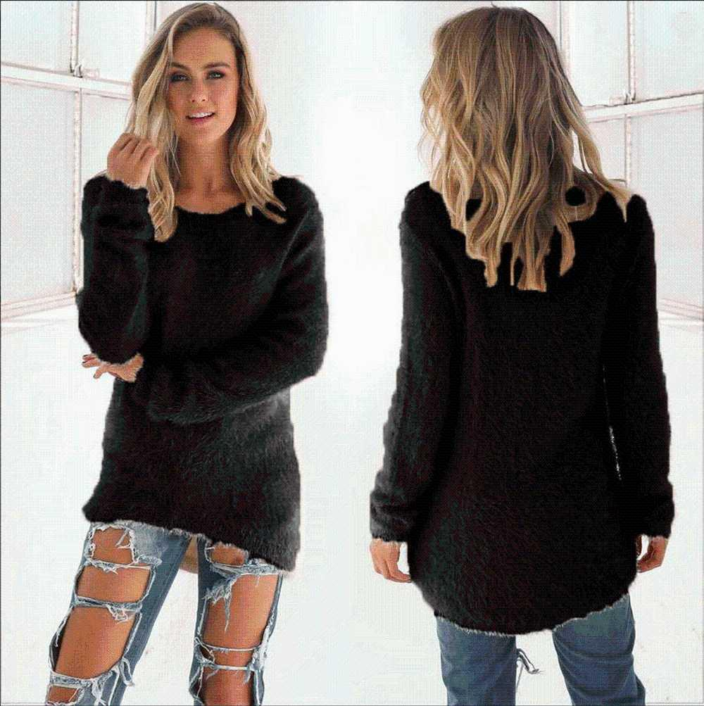 Pull pour les femmes Taille Plus S-3XL taille plus pull femmes Automne Hiver manches longues en vrac jersey pull-over en tricot mujer Invierno