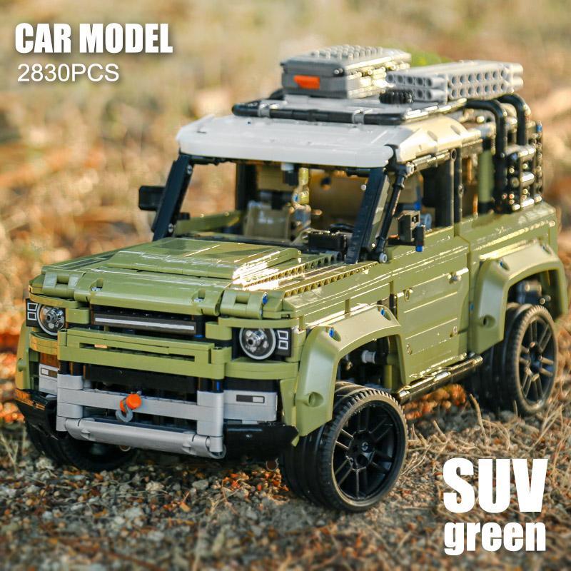 New Guardião veículo off-road carro Land Rover Fit Legoings Technic Defender 42110 modelo de construção Blocos Tijolos Toys Kid Natal