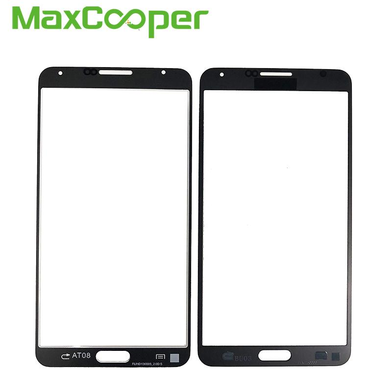 10 PCS/Lot For Samsung Galaxy Note3 Note 3 Neo N750 N7505 Front Plus Front Outer Glass Len Touch Panel Black White Color .