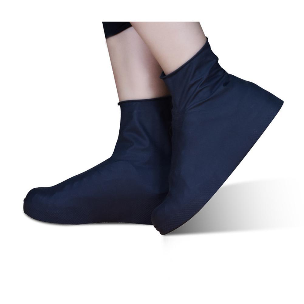Düşük / Yüksek Tüp S-L 1 Çifti Yeniden kullanılabilir Lateks Su geçirmez Yağmur Ayakkabı Kapaklar Kaymayan lastik Yağmur Önyükleme galoş ayakkabı Aksesuarlar