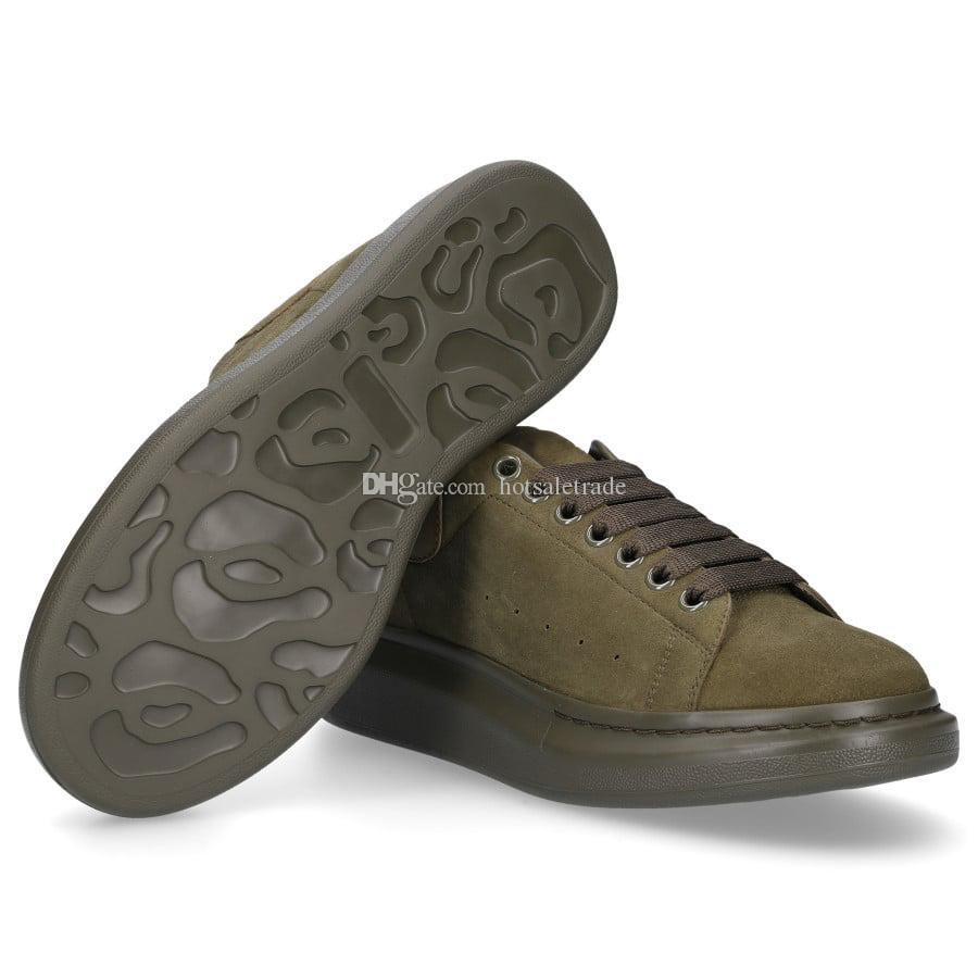 Moda scarpe di velluto verde militare di nuovo stile donne degli uomini Scarpe Sneakers Scarpe con la zeppa
