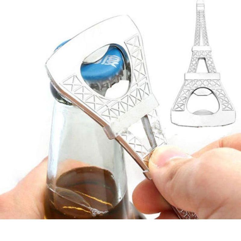 100pcs Romantische Hochzeit Souvenirs Paris Eiffelturm Flaschenöffner Neuheit Hochzeitsfestbevorzugung Geschenke mit Kleinpaketkasten