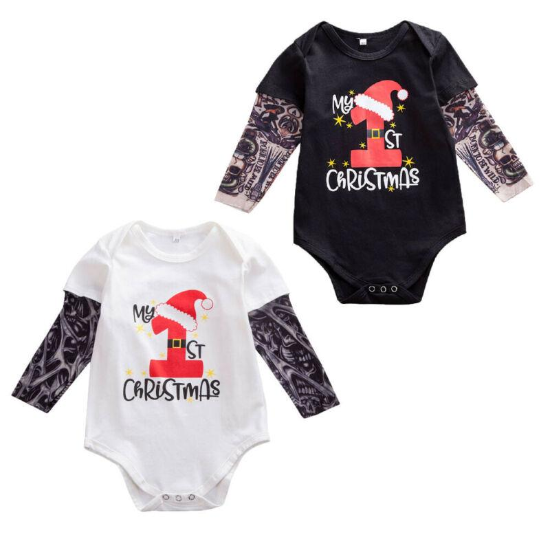 My 1st First Christmas 2018 baby vest outfit romper bodysuit Photo shoot top UK
