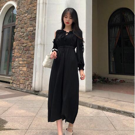 5a71ca0ba64e0 Clobee 2019 New Spring Dress For Women A Line Dress V Neck Hollow Out Sweet  Girl Ladies Famale Dresses Mujer DJ265 Cocktail Party Dress Black Summer ...