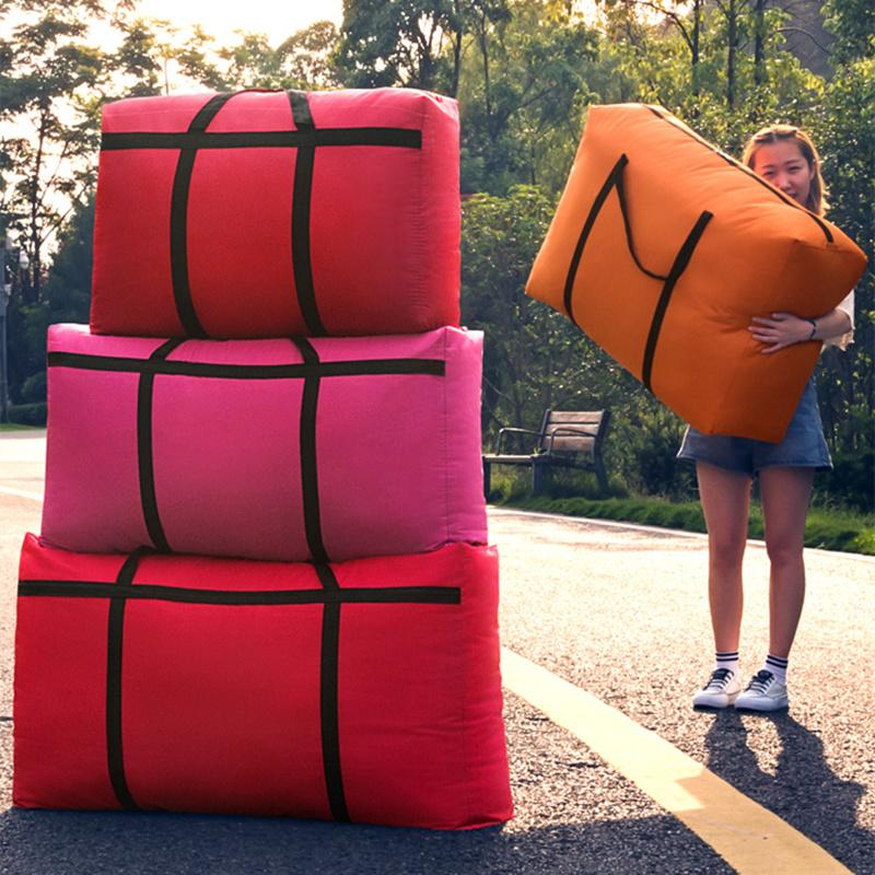 105L-180L High Capacity Canvas Шкаф Организатор 5 цветов Одеяло Одежда устроителя хранения для багажа Шкаф Прикроватные