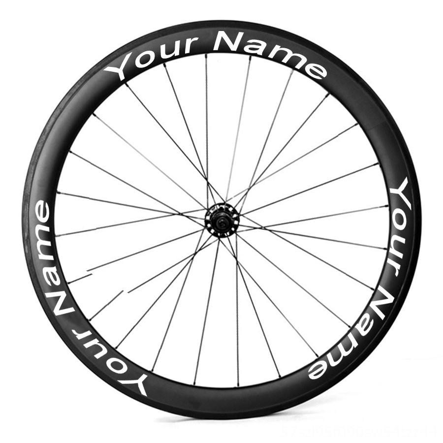 Customized Велосипедное колесо наклейки велосипедов протектор велосипеда Rim Таблички для велосипедов Велоспорт дорожный велосипед Велоспорт аксессуары стикер колеса