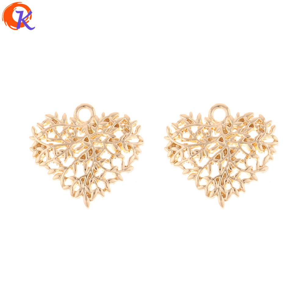 wholesale 100Pcs 21*23MM Jewelry Accessories/Earring Connectors/Heart Shape/DIY Accessories/Hand Made/Earring Findings