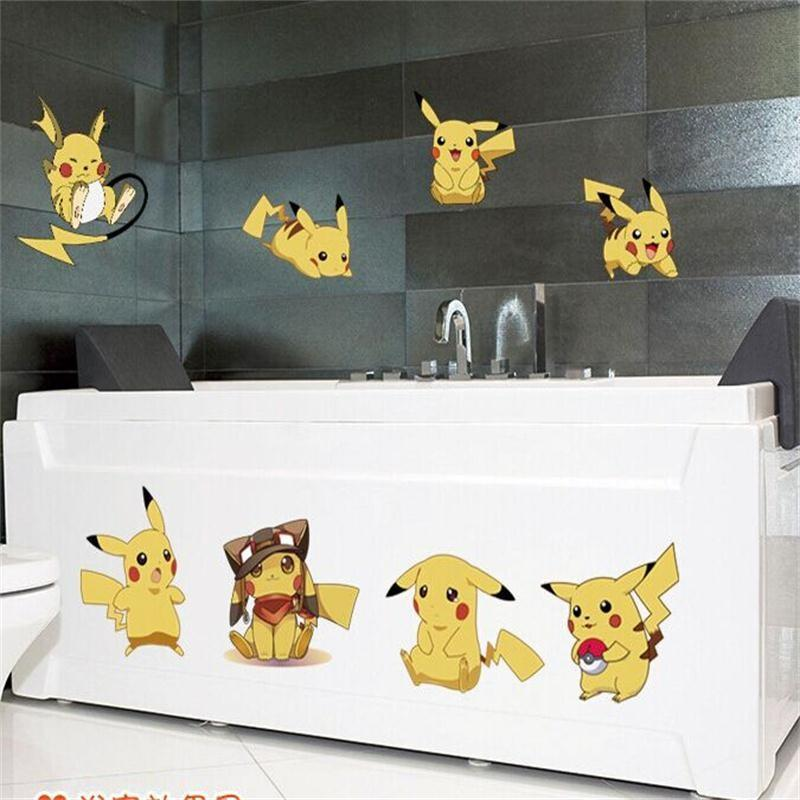 Acquista % Cartoon Amination Adesivi Adesivi Go Pikachu Adesivi Murali  Bambini Camera Da Letto Murale Stickers Murali Home Decor A $4.37 Dal  Chairdesk ...