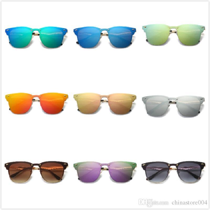 Alta qualità Più nuova vendita calda Unisex 3576 Polarizzati Mens Womens Occhiali da sole Rivetti Metal Design Specchio Occhiali da sole Signore Eyewear UV400