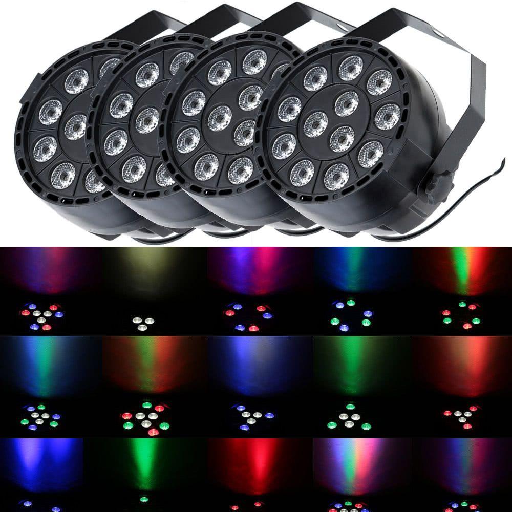 Effetto della luce della luce della fase del LED RGB Strobo PAR illumina la lampada 8 canali per la casa festa discoteca DJ 100-240V