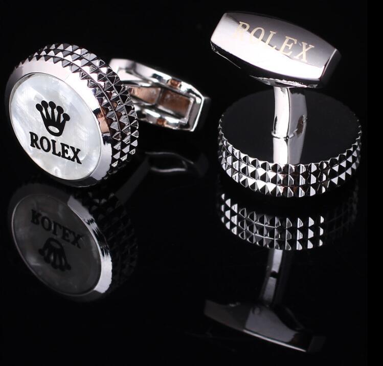 Nouveau style chemise homme boutons de manchette noir blanc or rose de luxe boutons de manchette meilleur cadeau de Noël bien Groom chemise Groomsman boutons de manchette