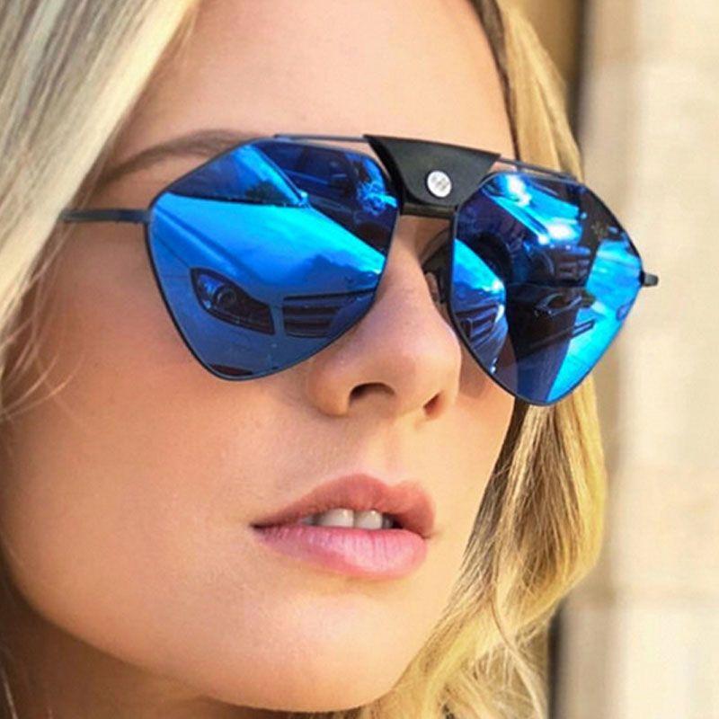 Bunte Sonnenbrille Film Metall Marke Polarizer Pads Sonnenbrille Brille Mesh Männliche polygonale weibliche Nase Silikon und Brille Rot Obgg