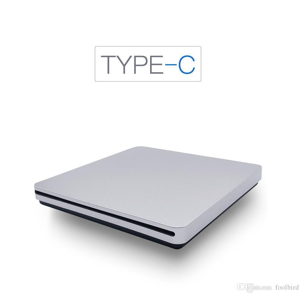 External Slim Type-C DVD-RW Drive Burner Slot in DVD Optical Drive Burner Reader Writer for Laptop