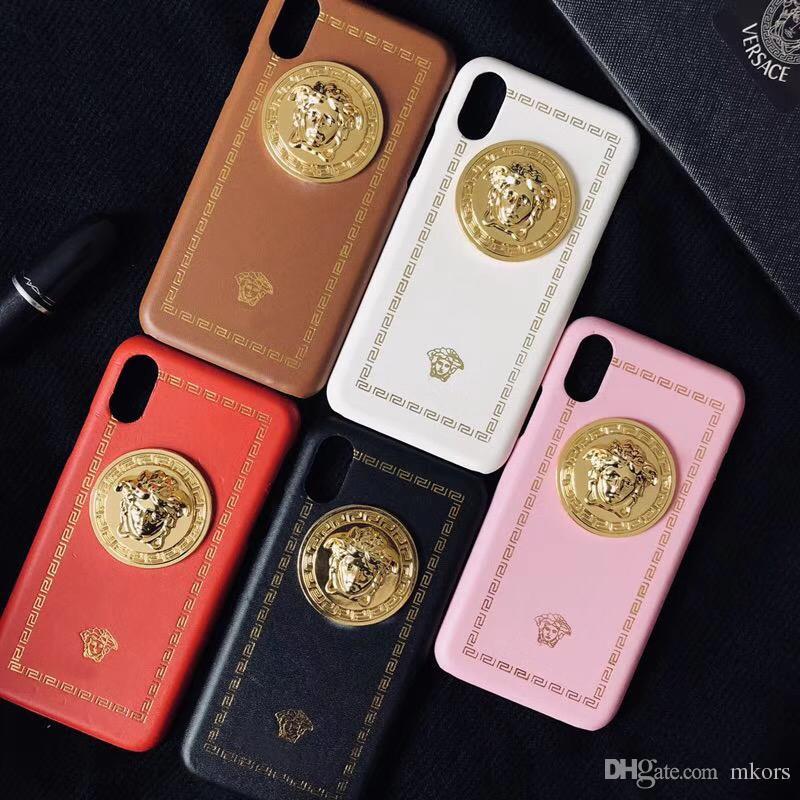Уличный модный чехол для телефона с металлической головкой для iPhone X XS MAX XR 8 7 6 Plus Защитный чехол - 5 цветов