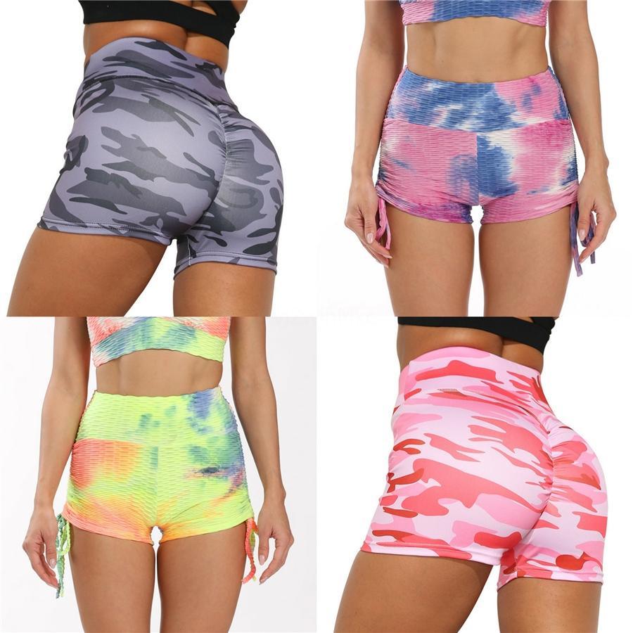Luoke pantaloni stretti delle donne a vita alta Yoga Fast Dry Blu # 544