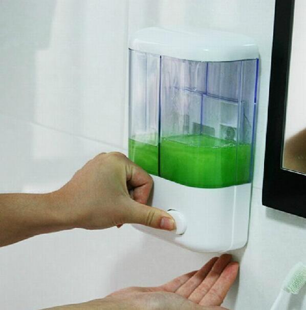 500мл 1000ML Шампунь Дозаторы Настенный Пресс для жидкого мыла Пластиковые Мытье рук Мыло бутылки Sanitizer диспенсер Box GGA3474