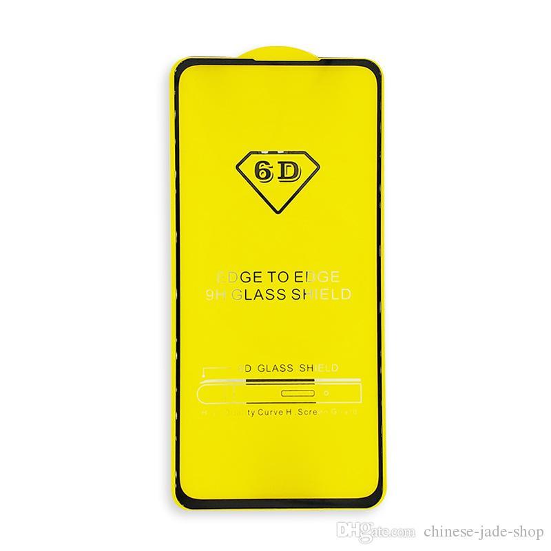 풀 커버 5D 6D 9D 강화 유리 화면 보호기 AB 접착제 삼성 갤럭시 A8 플러스 2018 A6 Plus 100pcs / lot