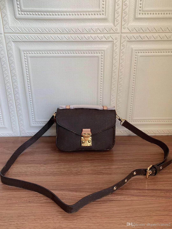 Mulheres designer quente bolsa mensageiro bolsa de couro oxidante Mini POCHETTE metis sacos de ombro elegante bolsas crossbody compras garras bolsa