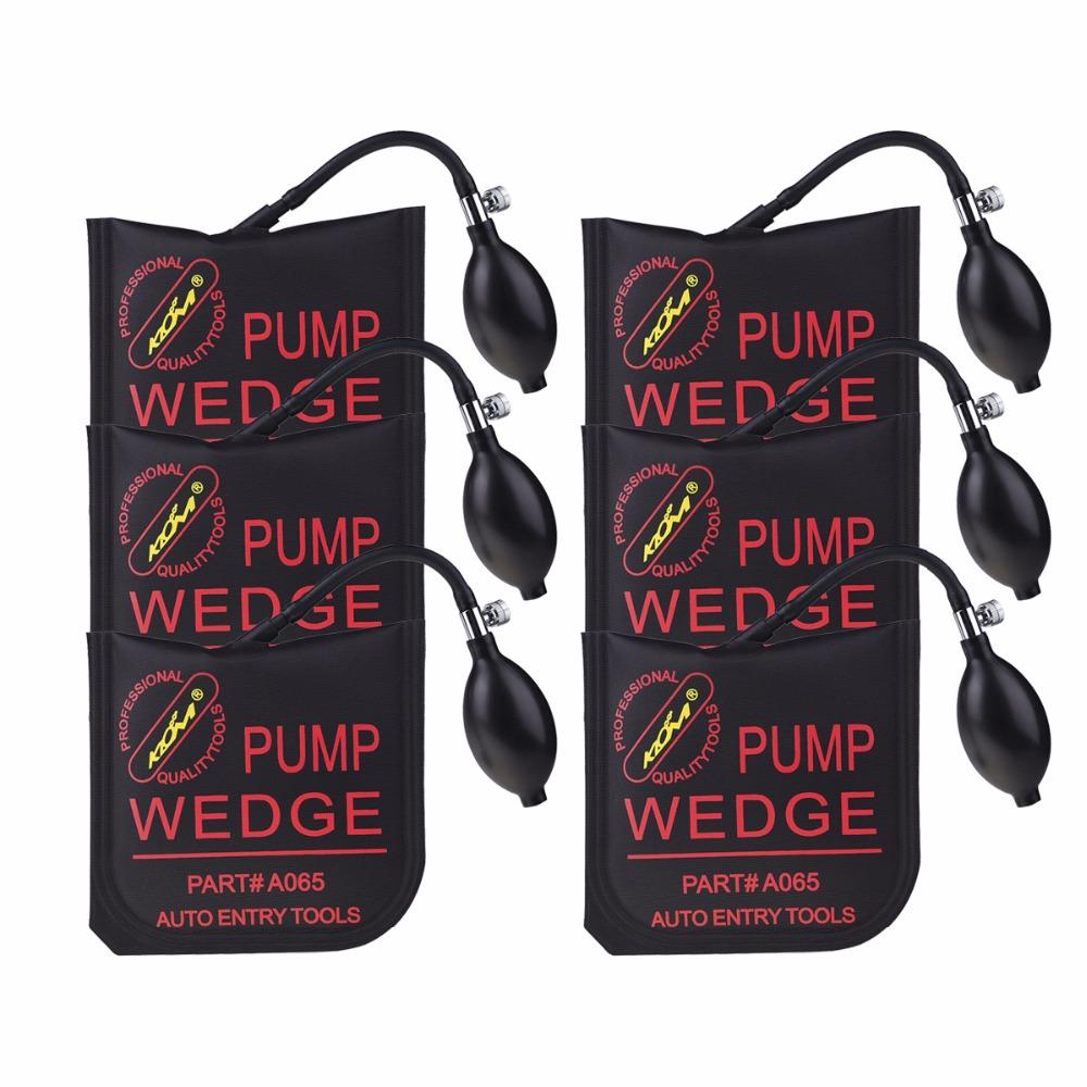 Moyen Klom Pompe à air Wedge Outils Serrurier Airbag Verrouillage automatique Retrousser Ouvrir Matériel Banderoles Airshim Outils 6pcs / lot