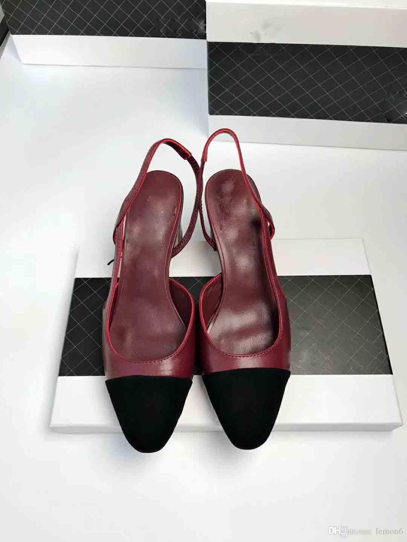 Großhandel 2019 Boom Classic Luxury Damen Sling Back Schuhe, Designer High Heels, Frühlingsfrauen Mode Schuhe, Größe: 35 40 Von Lemon6, $83.39 Auf