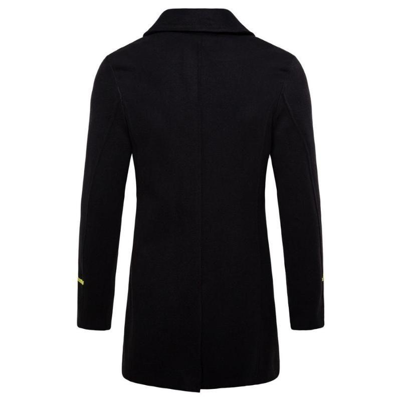 Cappotti maschile maschile in lana cappotto Slim affari Casual chic Spesso Moda autunno inverno Miscele di marca Abbigliamento