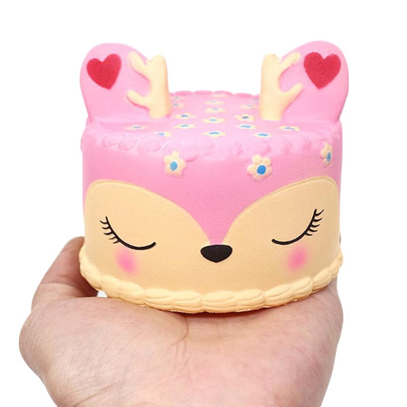 New Jumbo Kawaii coloré cerf gâteau Squishy Simulation Rising Lent douce parfumée douce squeeze Jouet Stress Relief Fun pour Kid cadeau