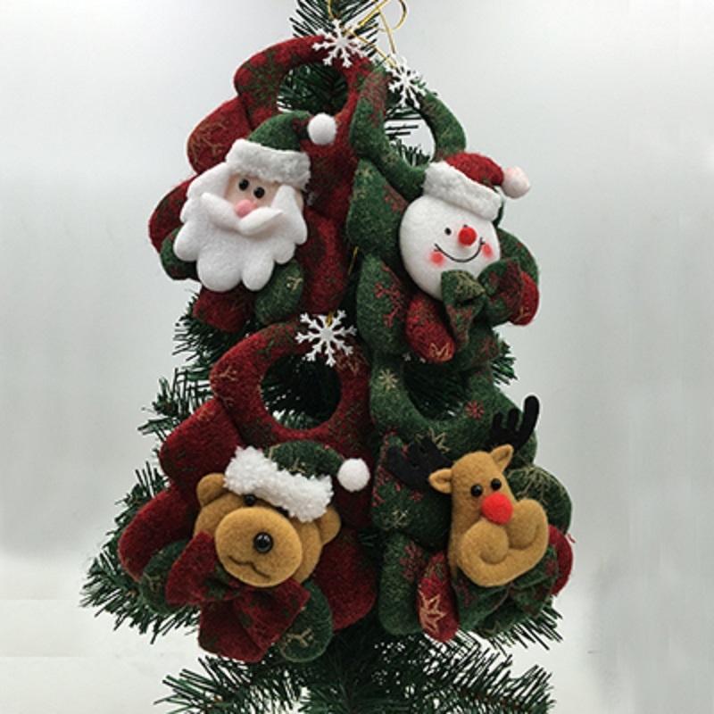Netter 1PC Baumschmuck Weihnachtsbaum hängende Dekoration Parachute Schneemann Weihnachtsmann-Anhänger Weihnachts Tropfen Ornaments