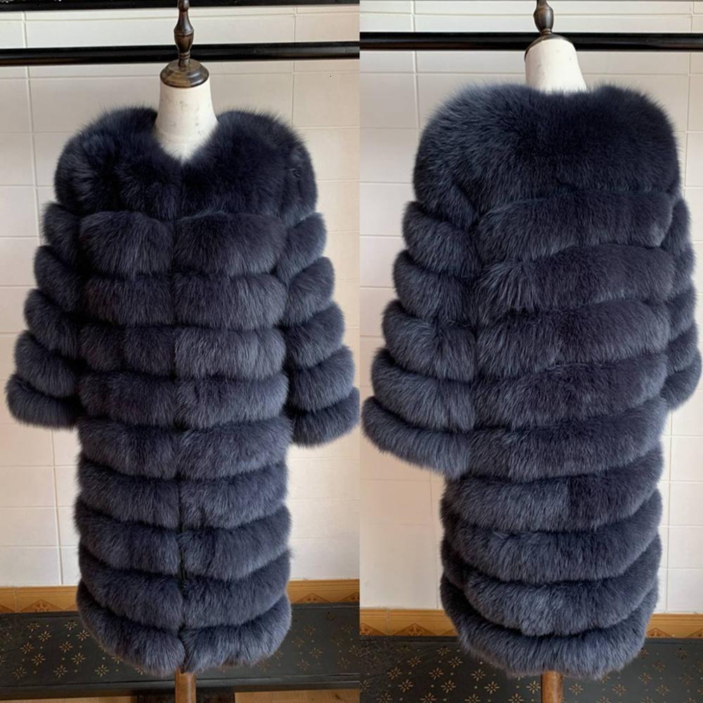 2019 Gerçek Fox Kürk Kadınlar Doğal Gerçek Kürk Ceket Yelek Kış Kabanlar Kadın ClothesMX191009