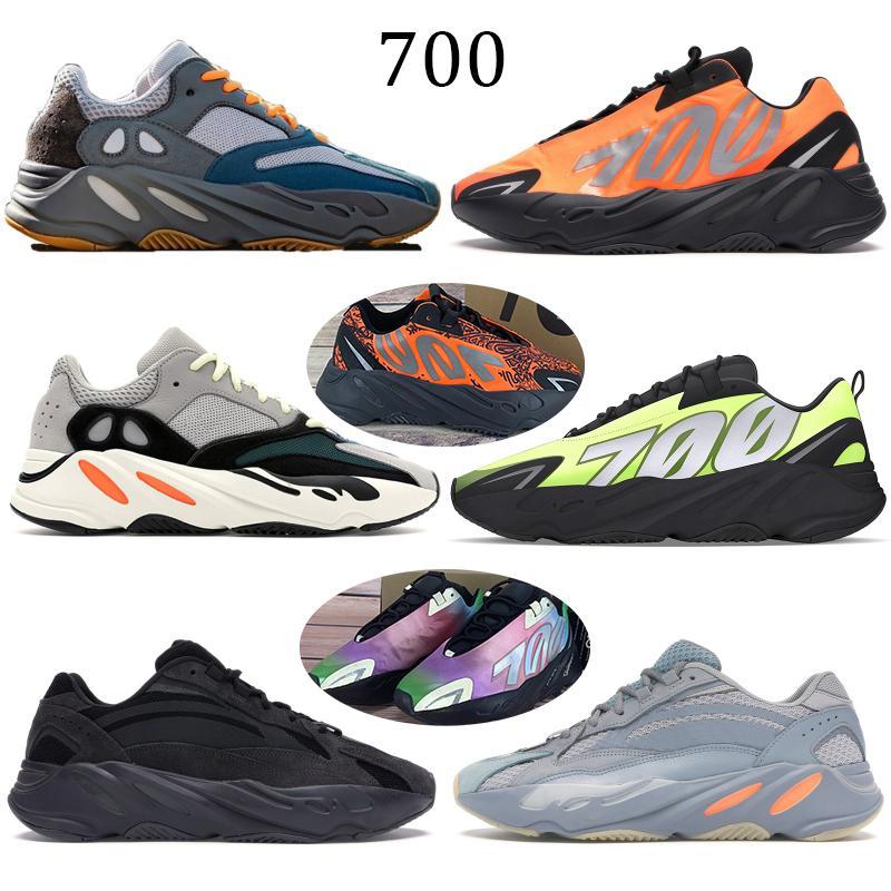 Reflektierende orange Tie-Dye Wave Runner 700 Kanye Kohlenstoff Teal Blau-Magnet Fest Grau Desiger Schuhe Static Schwarze Männer Frauen Turnschuhe laufen