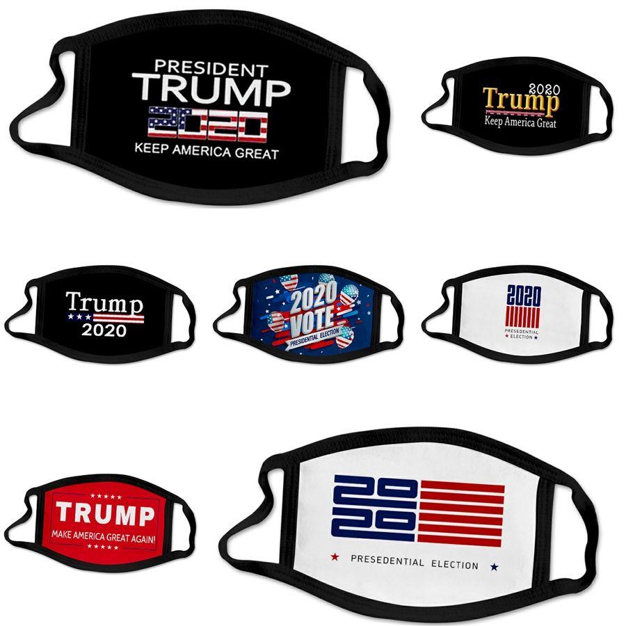 Arrefecer atacado Fashion Party Designer Trump Máscara Facial Adulto Fun Fancy Dress lavável Boca Muffle máscara reutilizável poeira quente Windproof Cotto # 94