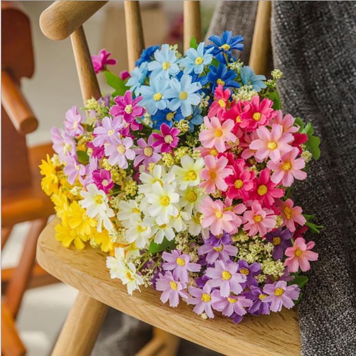محاكاة الاصطناعي زهرة الزينة الحرير الزهور ديزي قفزة كبيرة البرية الرقص السحلية ل الزفاف الديكور المنزل